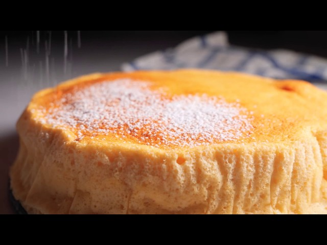 Light & Fluffy Yogurt Soufflé Cake