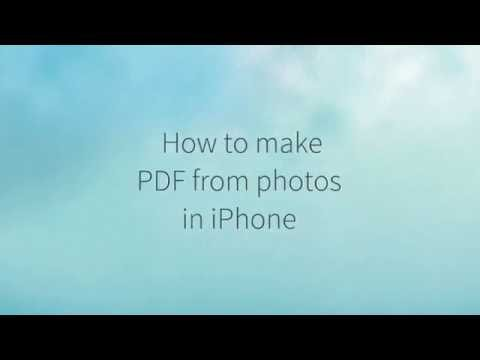 How to create PDF from photos in iPhone (no app require)