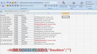 Excel recherche de doublons