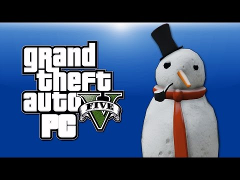 GMOD & GTA 5 PC Online Funny Moments - Christmas Tree, Snowball Fights, Snowman, XMAS MODDERS!