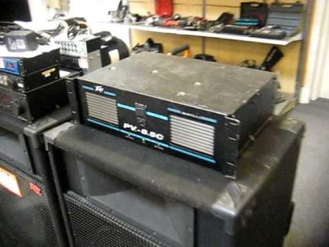 peavey pv power amplifier 550 watts x 2 channels youtube. Black Bedroom Furniture Sets. Home Design Ideas