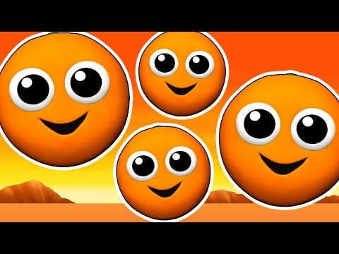 The Orange is Orange EPIC | Learn Colors for Children, 3D Kids Colours, Songs Rhymes, Busy Beavers