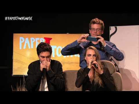 Cara Delevingne & Nat Wolff Beatbox [Live from the Paper Towns Get Lost Get Found Livestream]