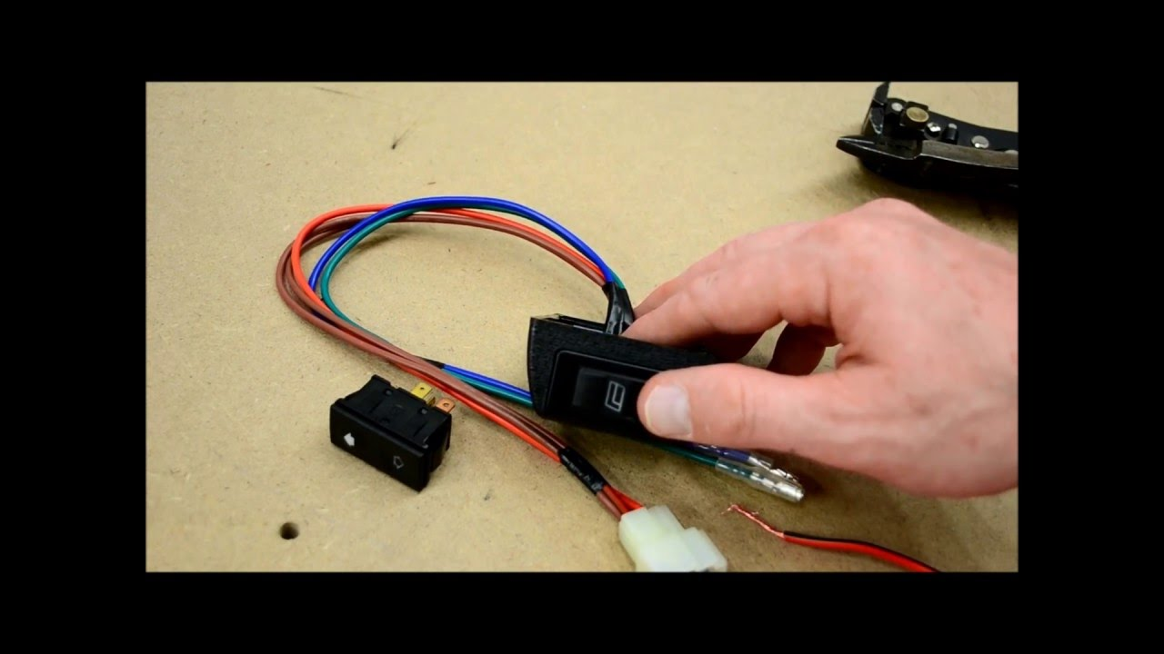 how to wire door lock and power window switches youtube rh youtube com  5 pin door lock switch wiring diagram