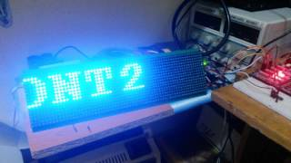 P6 64x16 Led Panel Test with Pic Microcontroller