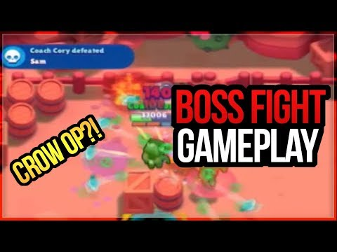 Boss Fight Gameplay! Boss Crow OP?! Boss Brawl Brawl Stars