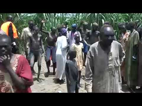 South Sudan - Happy dancing in the fishing camp