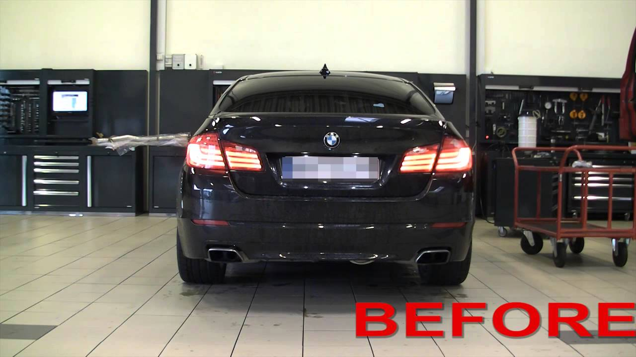 bmw f10 550i with supersprint exhaust and x pipe