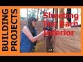 Building Projects - Sheeting The Barn Interior