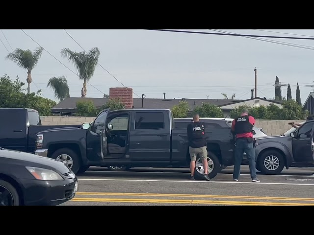 Fullerton Police high-speed pursuit ends with 2 arrests