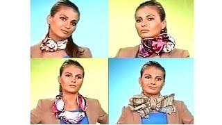 Как красиво завязать платок. Способы завязывания платков.