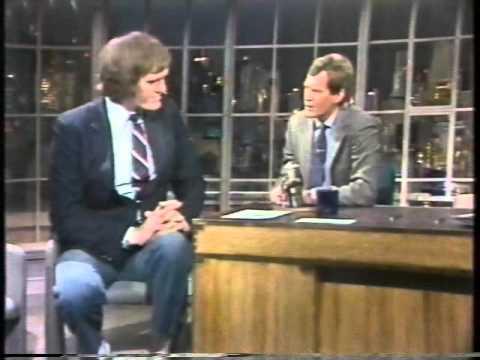 """David Letterman with Richard """"Jaws"""" Kiel - from 1985!!"""