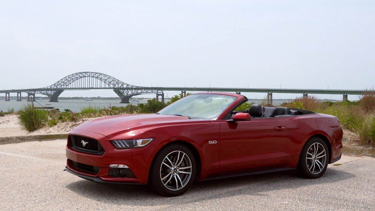 2015 ford mustang gt convertible review souped up but stiff youtube. Black Bedroom Furniture Sets. Home Design Ideas
