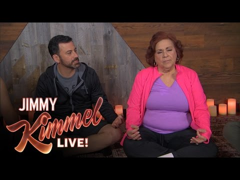Jimmy Kimmel, Cousin Sal, Guillermo, Yehya & Aunt Chippy Go To Meditation Class
