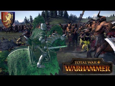 The Green Knight Marches to War - Bretonnia vs. Beastmen - Total War Warhammer Multiplayer Battle