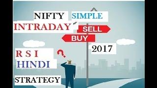 Simple Intraday Strategy to Trade Nifty & Bank Nifty using RSI (hindi) 2017