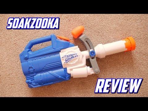 Nerf Super Soaker Soakzooka Unboxing, Review & Firing