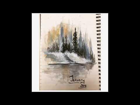 easy watercolour landscape painting
