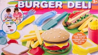 Dough Burger Deli Set Play Doh Hamburger Hot Dog French Fries Playdough Fast Food Plastilina Clay