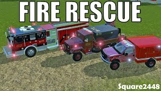 Farming Simulator 17 | Fire Rescue | Brush Fire | Mower Fire | Forklift Fire