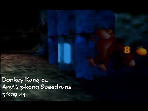 Any% 3-kong in 36:09.44 (World Record)   Donkey Kong 64