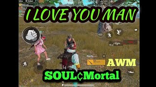 SOUL Mortal giving his AWM to his Fan!!|| Last circle pan fight?