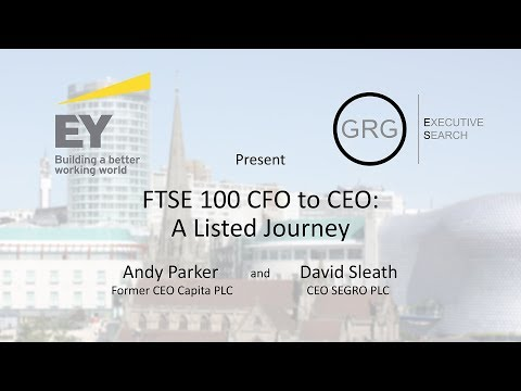 FTSE 100 CFO to CEO: A Listed Journey