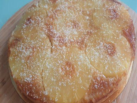 gâteau-caramélisé-renversé-à-l'ananas-coco-كعكة-الأناناس-وجوز-الهند-الحلو