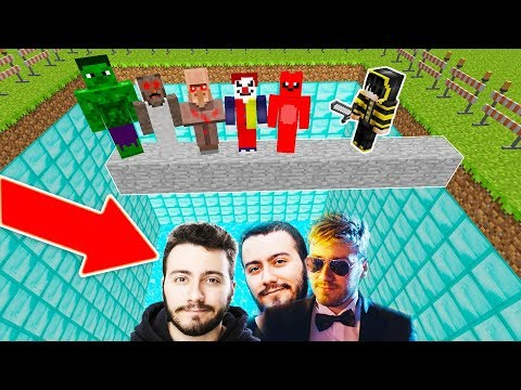 CANAVARLAR ENES BATUR HAVUZUNA DÜŞTÜ! 😱 - Minecraft
