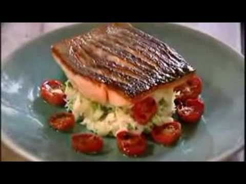 Gordon ramsay s crispy salmon recipe low res version youtube