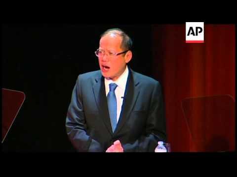 Philippine President Benigno Aquino III at Asia Society