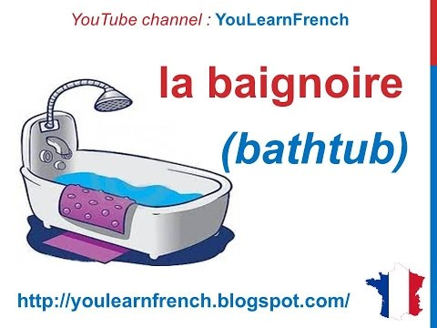 French Lesson 83  Items Things In The Bathroom Vocabulary
