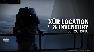Xur Location and  nventory for 9 28 18  Septemeber 28 2018 Destiny 2 Forsaken