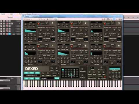 DEXED - Open source DX7 librarian / emulator VSTi demo