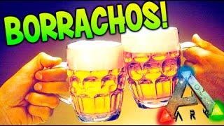 BORRACHOS EN ARK !! NUEVO DINO Y FIESTA DE CERVEZA !! ARK SURVIVAL EVOLVED MODS Makigames