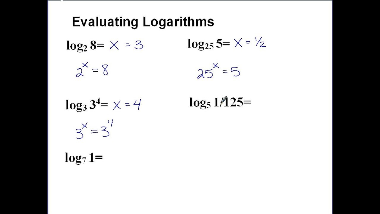 Properties of logarithms, or surprising - next