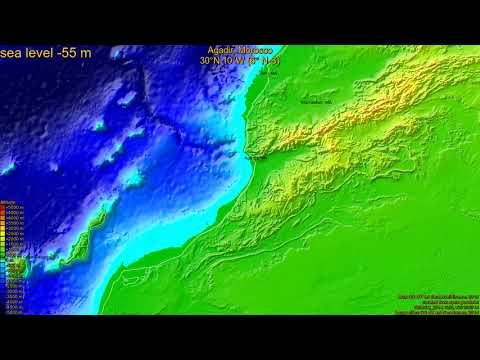 Agadir, Morocco, (z+c) sea level rise -135 - 65 m