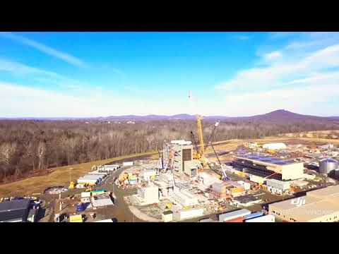 Natural Gas Power Plant Under Construction Birdsboro Pa