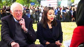 Reporter Tries Identity Politics on Bernie & AOC; Fails