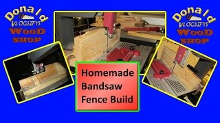 I got the bandsaw working, so now I need a fence. This is how