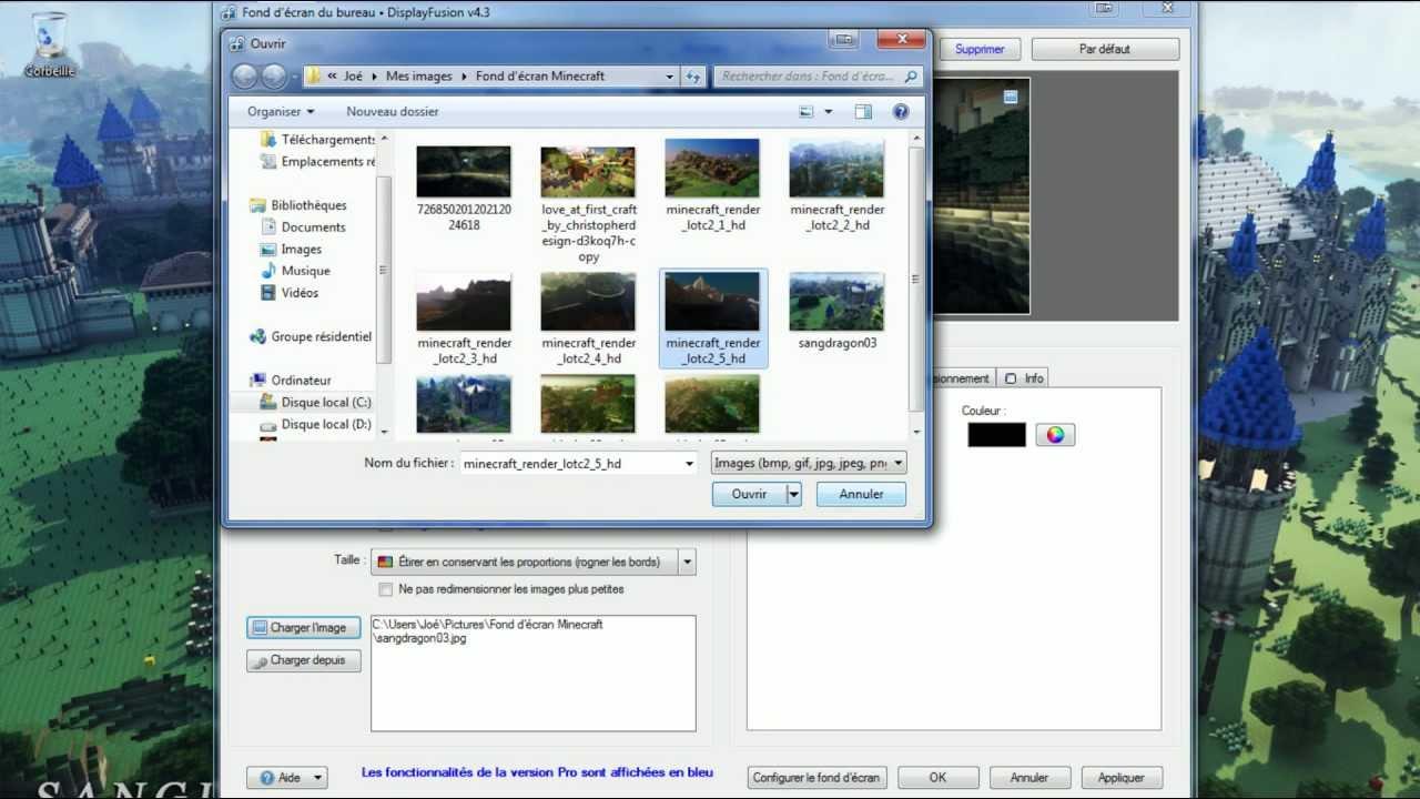 fond d'ecran different sur 2 ecrans windows 7