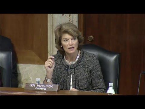 Sen. Murkowski's Opening Statement at Hearing Regarding King Cove's Need for a Life-saving Road