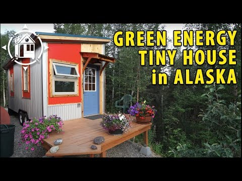 Modern Tiny House in Alaska for Self-Sustainabilty Advocate