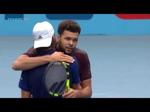 Lucas Pouille beats Jo-Wilfried Tsonga to win biggest career title! | Vienna 2017 Final Highlights