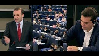 Geschrei im EU-Parlament: Deutscher Abgeordneter Weber attackiert Tsipras scharf