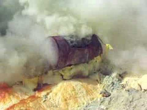 Kawah Ijen Volcano - Sulfur Mining #12