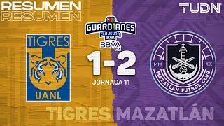Resumen y goles   Tigres 1-2 Mazatlán   Torneo Guard1anes 2021 BBVA MX - J11   TUDN