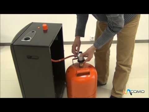 Cambiar una bombona de butano youtube for Instalacion gas butano