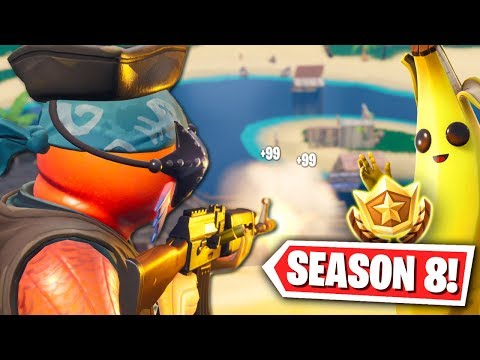 We Won our First Game of Season 8! (Fortnite Season 8 New Map Gameplay!) thumbnail