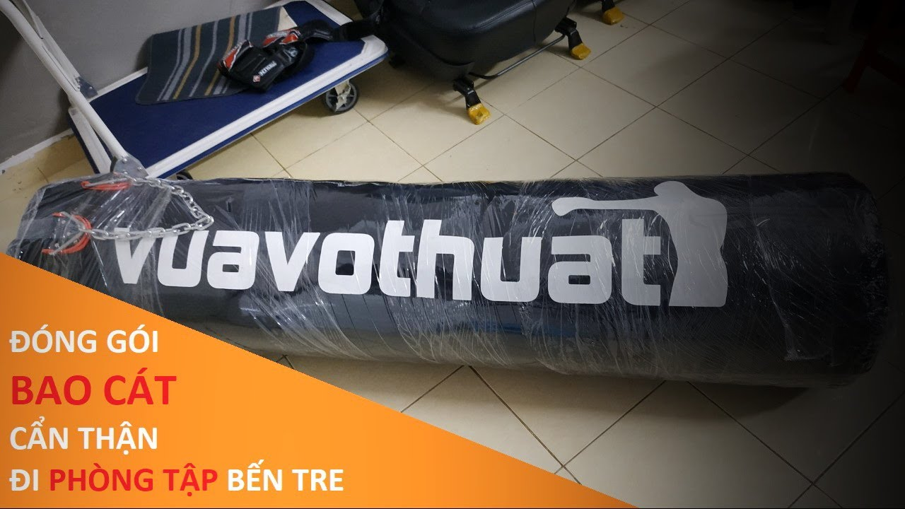 Gói bao cát hình trụ dài 1m7 cho Phòng tập Bến Tre   Bao đấm cao cấp 1m8   Vuavothuat.vn